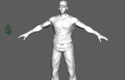 拳皇TERRY的maya模型