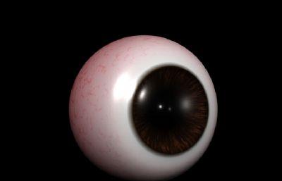 maya真��眼珠模型