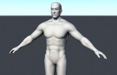 男人裸体,男人体maya模型