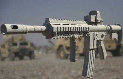 步��M4A1��械模型,max,fbx,obj三�N格式