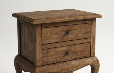 中式木制床头柜