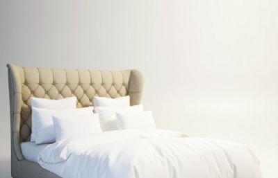 欧式床,榻榻米max模型