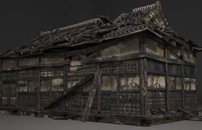 古建筑破��的房子3D模型
