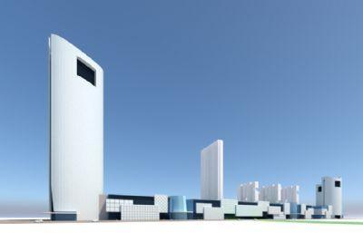 城市商业综合体鸟瞰