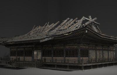 破��性� 的古建民房3D模型(�W�P下�d)