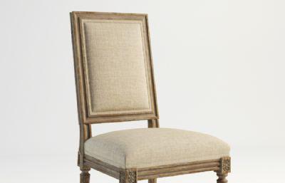 麻织靠背椅子,无扶手椅子