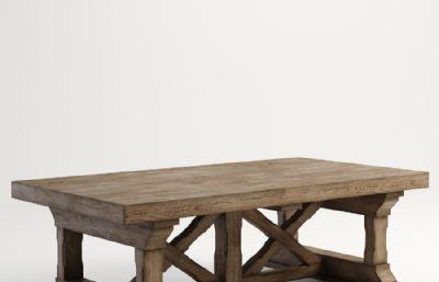 ��木咖啡桌