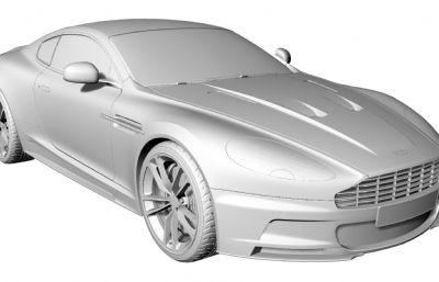 阿斯顿马丁汽车跑车-犀牛建模