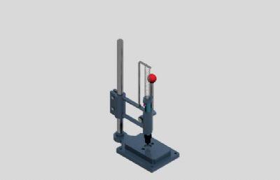 手動沖擊機3D模型