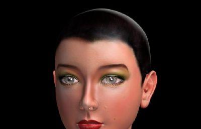中�|女孩�^像maya模型