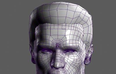 施瓦辛格头像maya模型