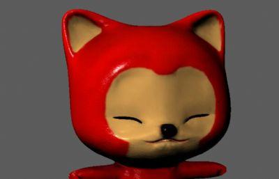 阿狸玩偶Maya模型