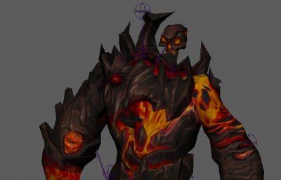 巖漿巨人BOSS怪物