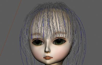 人偶娃娃,SD娃娃maya模型