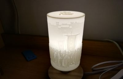 水浒浮雕台灯