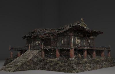 破碎的房子寺�R3D模型