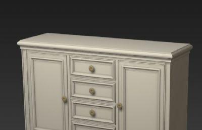 欧式风格白色装饰柜