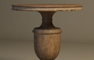 木制圆桌,欧美家具