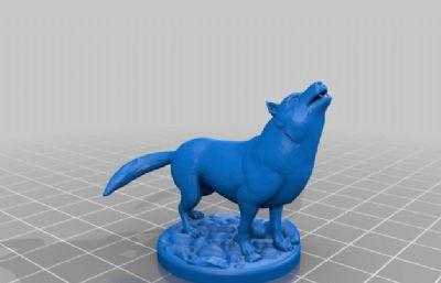 三只狼,可3D打印