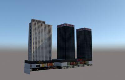 万达广场综合体模型