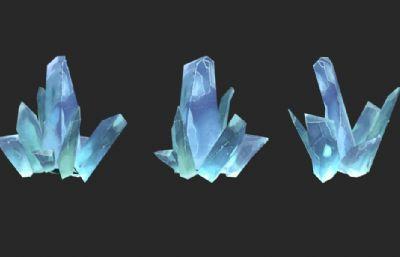卡通冰,水晶max模型