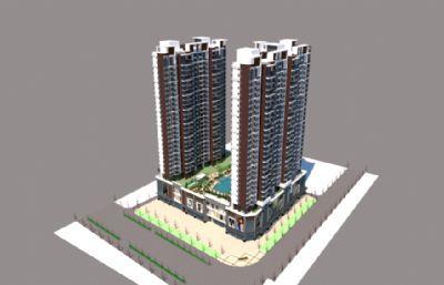 酒店,商业楼,商业综合体,小区