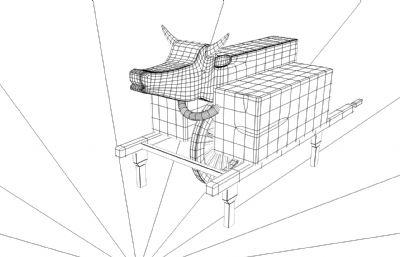 木牛流�R,人力����maya模型,mb,fbx,abc三�N 格式