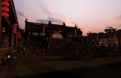黄昏下的戏院,中式戏台(网盘下载)