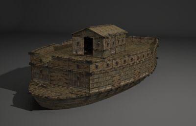 破��的��\船3D模型