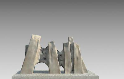 抽象石�^山�w雕塑�O�