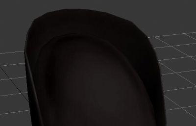 盛唐武官帽子,�^冠max模型