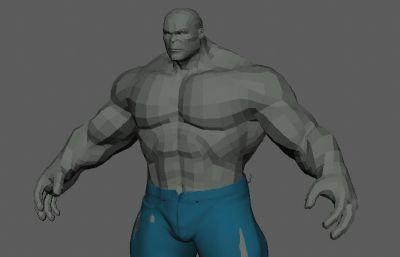 一��布�合理的�G巨人maya模型