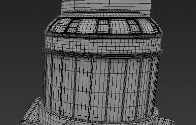 观景塔,地标建筑max素模