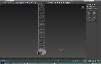 圆顶观景塔max模型