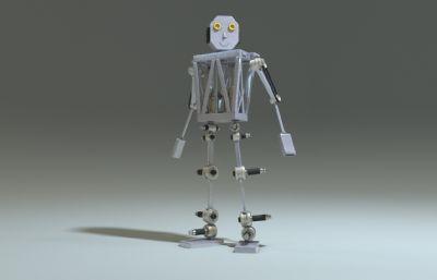 人工智能�C器人,�F代�C器人maya模型,mb,fbx,abc三格式