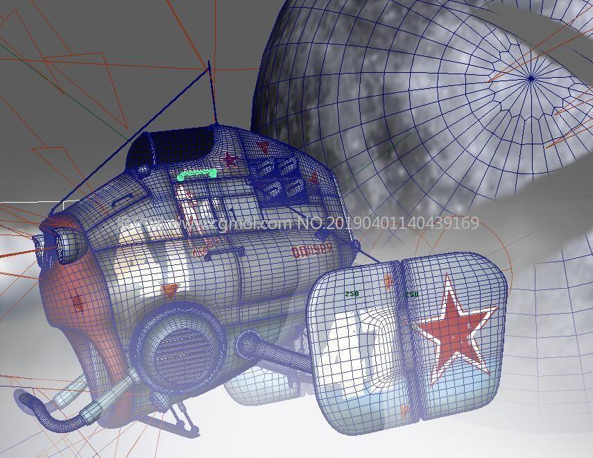 科幻小型�w行器��x太空星球�鼍�maya模型