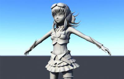 女孩,性感女飞行员maya模型
