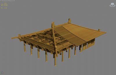古代建筑�部�Y��分解max模型