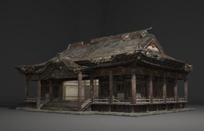 古建烂房子,寺庙废墟