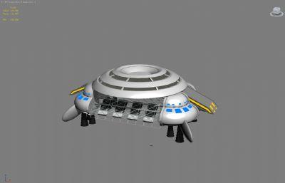 太空�w行器,�w船max模型