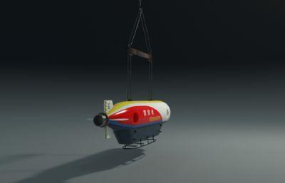 探索者号,探索者潜艇maya模型,mb,fbx,abc三种格式