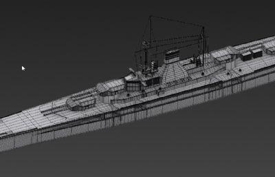 战列舰,军舰max2015模型