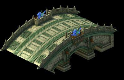 古代花纹,龙纹桥max模型