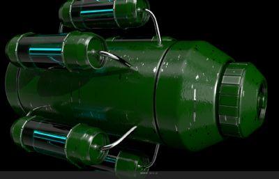 超现实导弹C4D模型