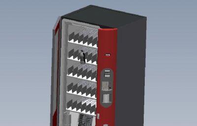 自动饮料售卖机,自动售水机,包含内部机械结构文件