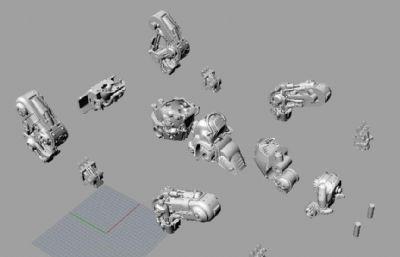 �C械狗手�k模型,13��STL文件(�W�P下�d)