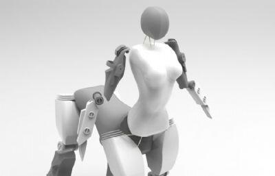半人�R造型的未�砀拍罘��招�C器人模型3D�D�