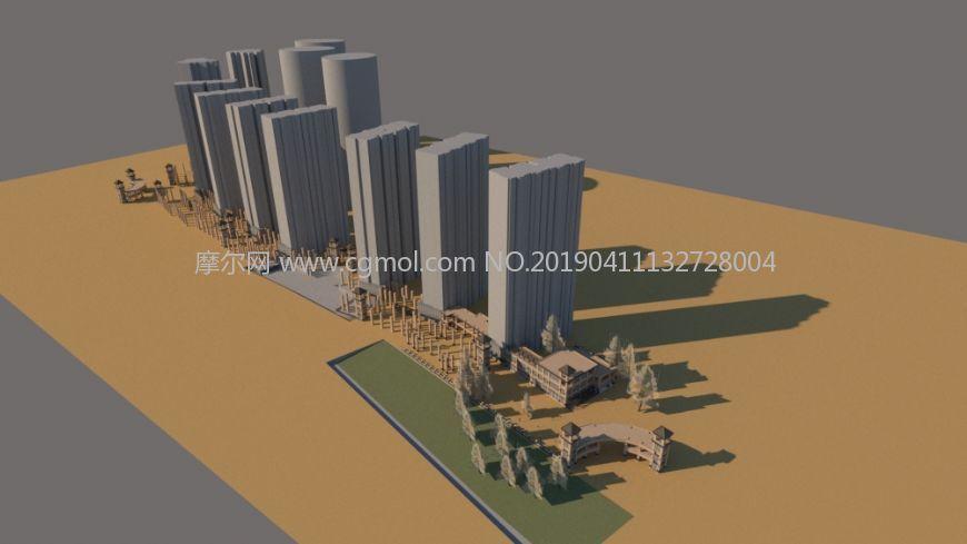 小区,商品房整体鸟瞰,高档住宅