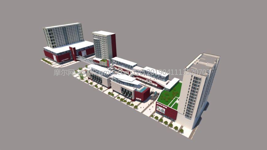 城市商业广场,商业区