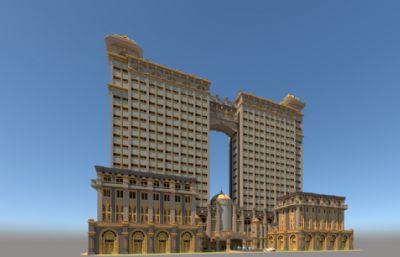 酒店,会所su模型